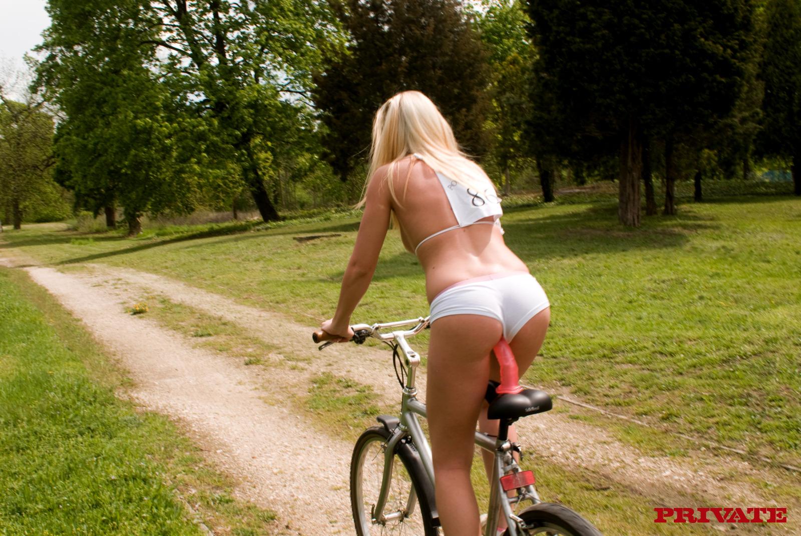 Bike with a dildo